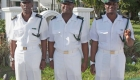 (left/right) Warrant Officers, FCPO Lloyd Ferguson, FCPO Christopher Mackey, FCPO Gary Mackey.