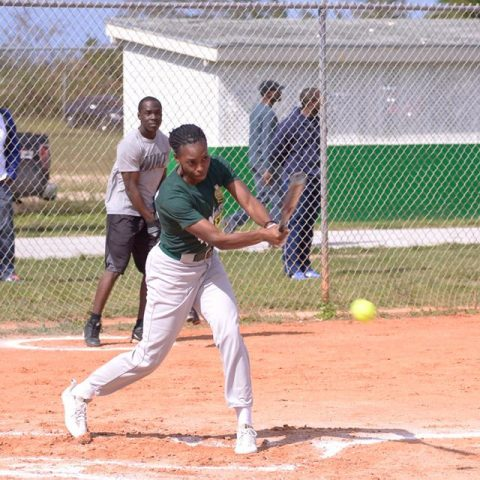 Female MVP able woman Bonaby at bat
