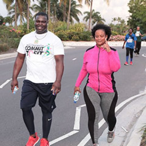 Some of the participants at the RBDF Fun Run/Walk and Health expo on April 14, 2018.