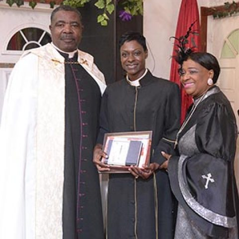 Woman Petty Officer Shamica Duncombe – Ordained as Minister at Whosoever Will Discipleship Centre. She is also the wife Lieutenant Duncombe