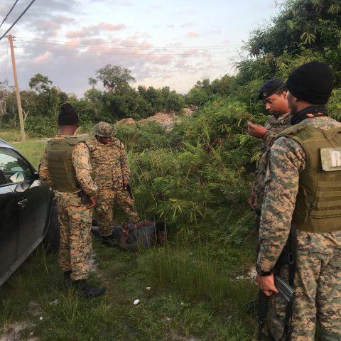 Commando Squadron Marines Apprehending Suspected Robber