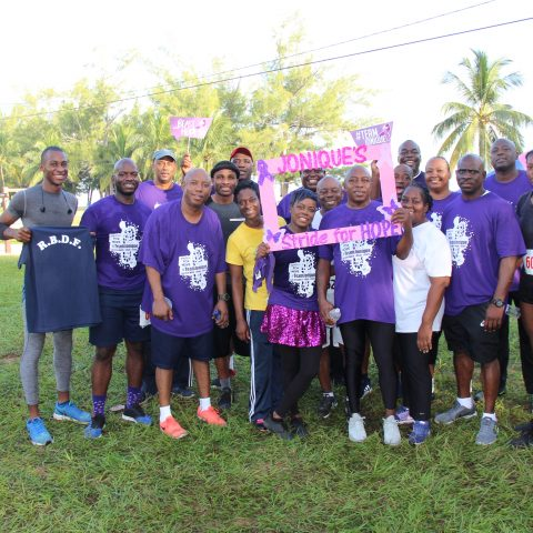 Supporters of Defence Force Officers and Marines at the one-mile Fun Run/Walk race on August 11.