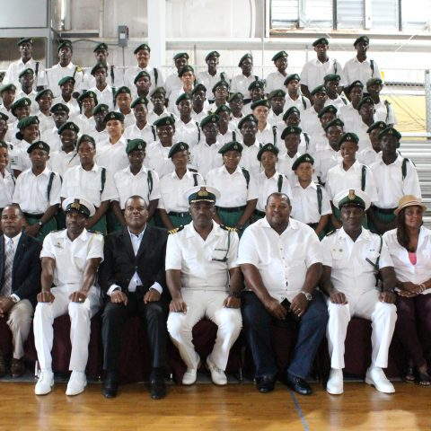 The group of RBDF Rangers who attended the 3rd Annual Rangers Leadership Summer Camp in Grand Bahama.