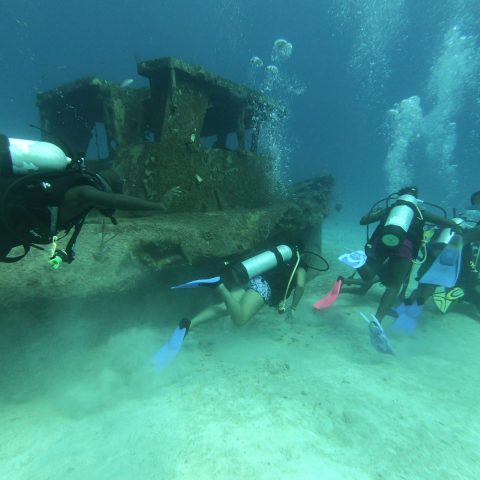 Defence Force Rangers performing one of their underwater dives at the RBDF Rangers Summer Camp in Grand Bahama.