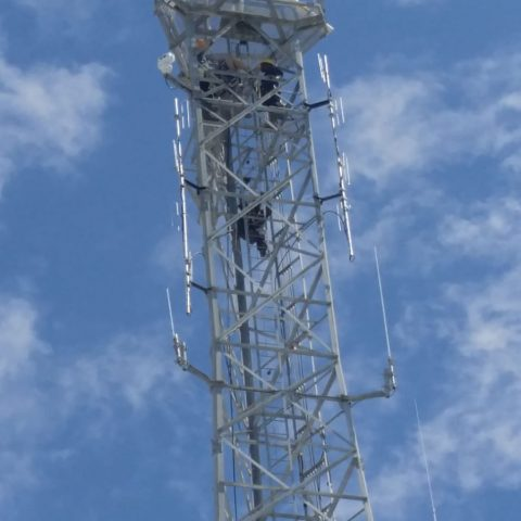 The radar atop the tower in Matthew Town Inagua. The $2.1 million state of the art Kelvin Hughes Long Range Coastal Radar, which was made available to The Bahamas by the government of the United States of America through the US embassy in The Bahamas, will be used in the fight against illicit activities.