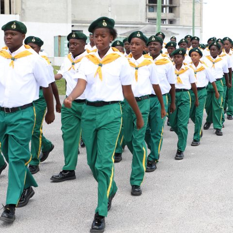 RBDF Rangers Platoon marching on during their Passing Out Parade Ceremony at the Defence Force's Coral Harbour Base on May 25th.