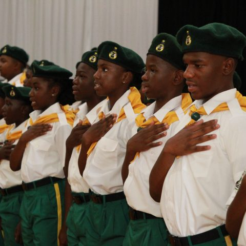 Ranger Cadets at the Passing Out Parade ceremony