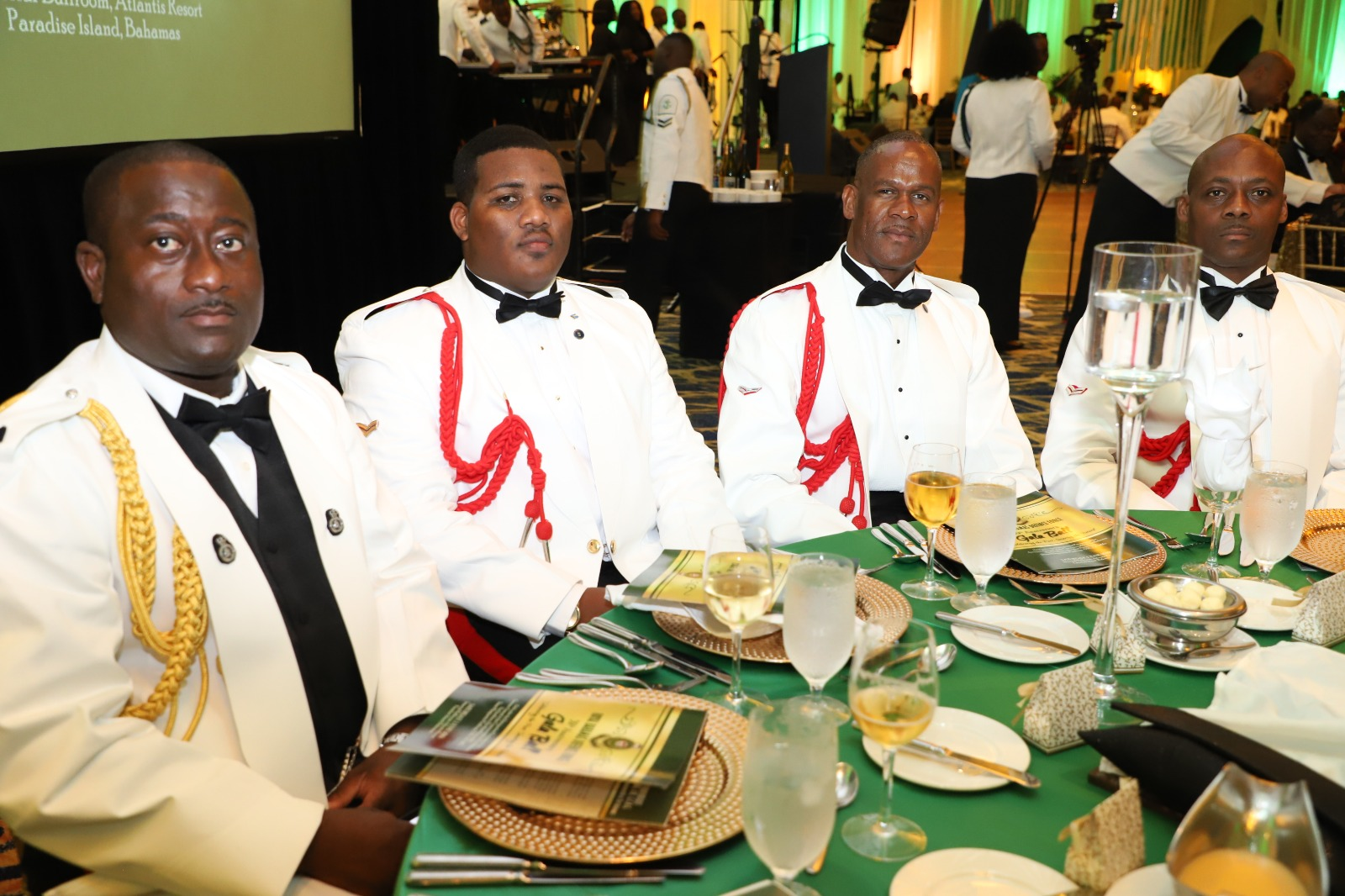 Members of the Police Force at the Annual Military Ball on June 1st.
