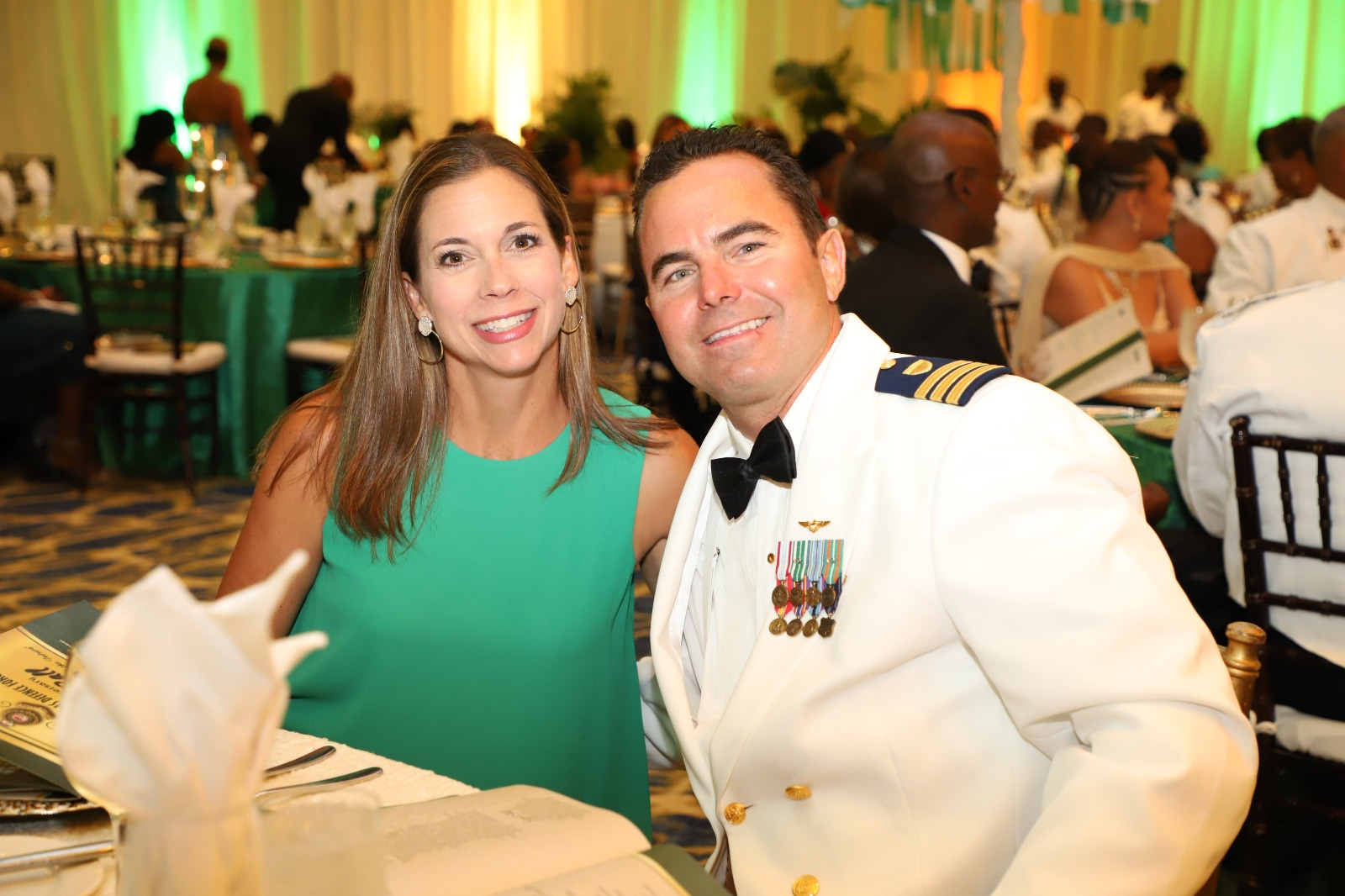 Commander Michael Benson and Mrs. Benson at the Annual Military Ball on June 1st