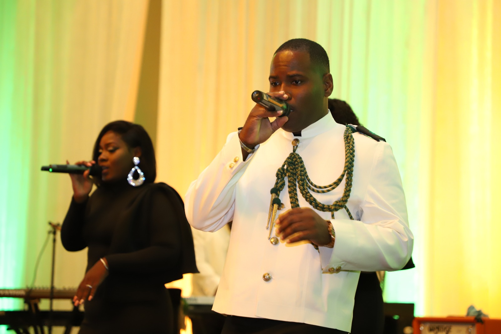 The RBDF Pop Band performing during the Annual Military Ball on June 1st