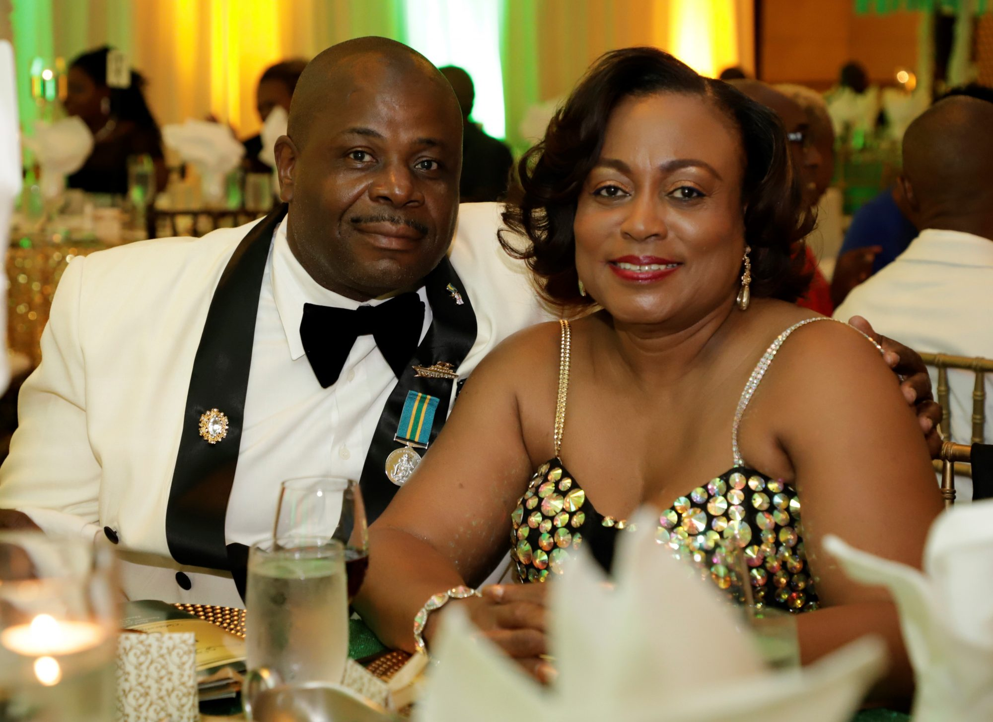Retired Petty Officer Anthony Maycock and his guest at the Annual Military Ball on June 1st.