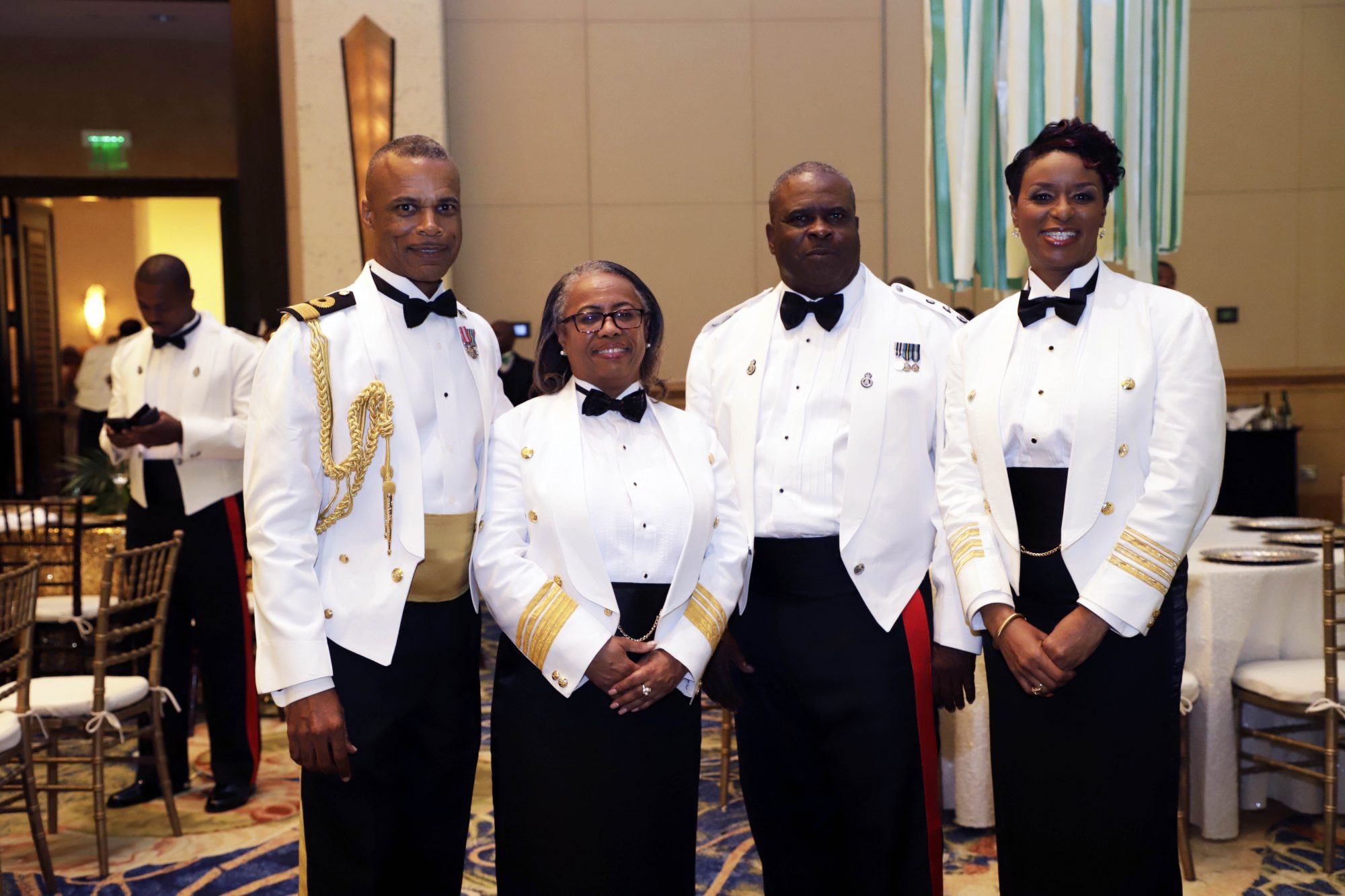 From left: Commodore Tellis Bethel; Comptroller of Customs Dr. Geannine Moss and Commissioner of Police Anthony Ferguson.