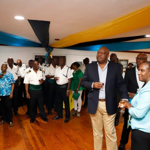 Officers and their guest at the RBDF Officers post-Independence Cocktail Reception on July 12, 2019.