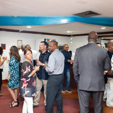 RBDF Officers and invited Guest enjoying themselves at the RBDF Officers post-Independence Cocktail Reception on July 12, 2019.