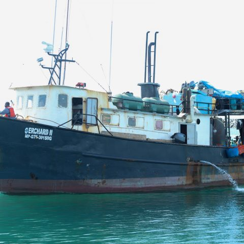 Dominican Poachers Vessel (GERCHARD II) Arriving at HMBS Coral Harbour Base