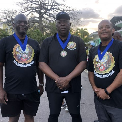 From Left: Chief Superintendent Walter Evans, Acting Commissioner of Police Paul Rolle, Acting Commander Defence Force, Captain Raymond King.
