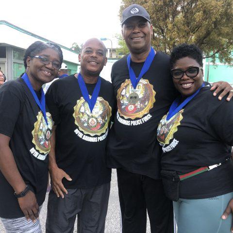 ACDF, Captain Raymond King and Mrs. King greeting fellow friends at Fun Run Walk.
