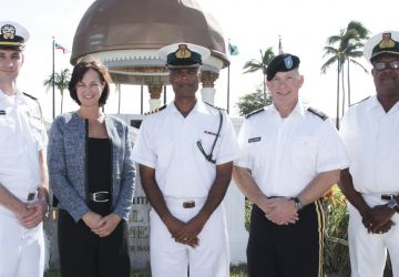 BRIGADIER GENERAL PAYS COURTESY CALL ON ACTING COMMANDER DEFENCE FORCE