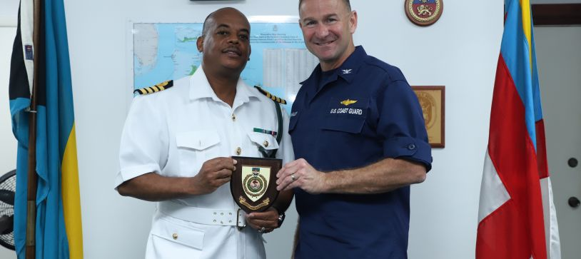 USCG Officer pays Courtesy Call on Acting Commander Defence Force