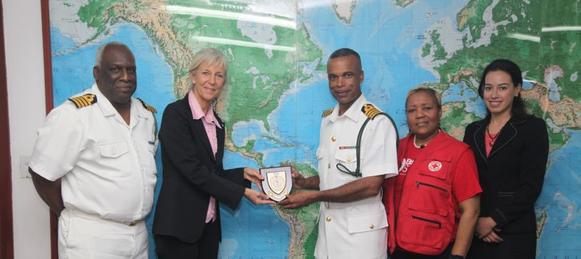 Red Cross Officials make Courtesy Call on ACDF