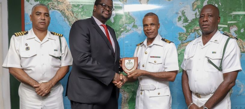 PRESIDENT OF THE BAHAMAS BAR ASSOCIATION PAYS A COURTESY CALL ON COMMANDER DEFENCE FORCE