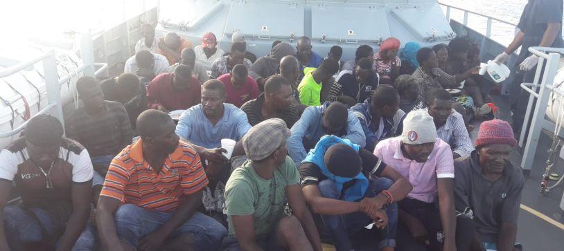 RBDF Apprehends Haitian Migrants