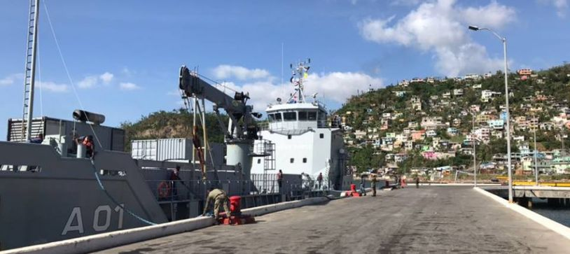 HMBS LAWRENCE MAJOR ARRIVES IN DOMINICA