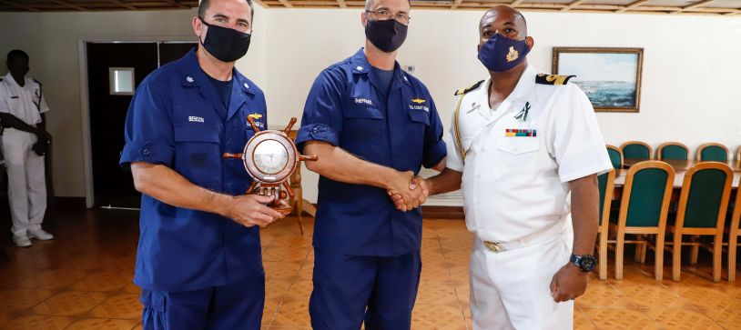 The Commander Defence Force introduced to Incoming OPBAT Director