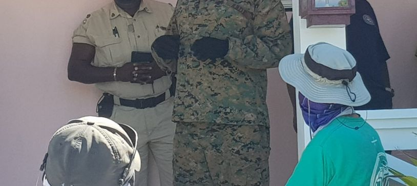 Royal Bahamas Defence and Police Forces visit Abaco Communities