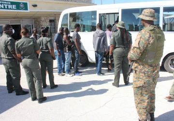 RBDF Apprehends Haitian Migrants