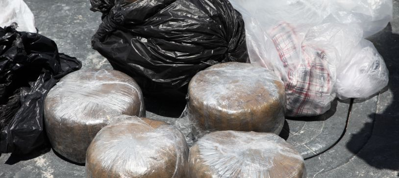 RBDF Marines Make Drug Arrest