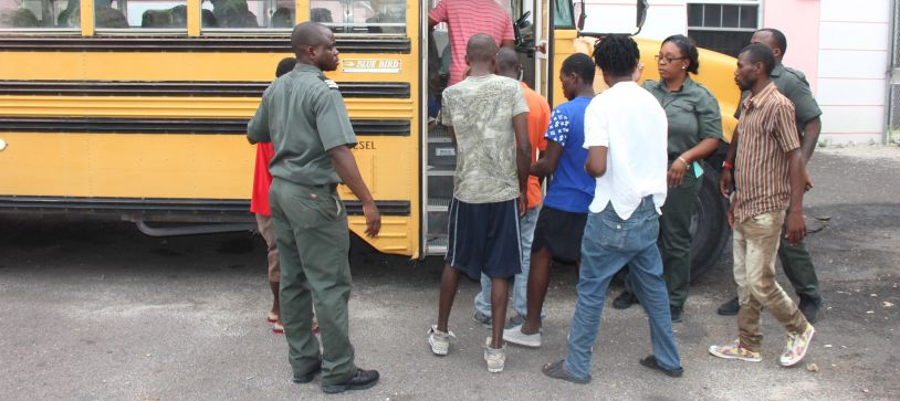Haitian Migrants Charged before Courts