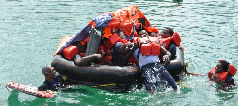 RBDF Ship's Crew Undergoes Water Survival Training