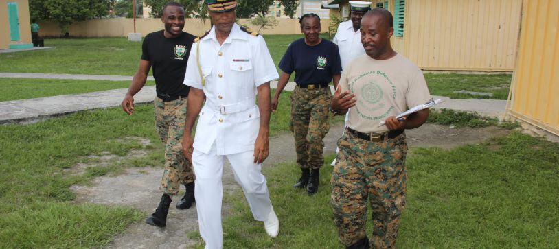 Commander Defence Force Tours RBDF Rangers Camp