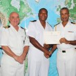Defence Force Officer receives Bridge watch keeping Certificate
