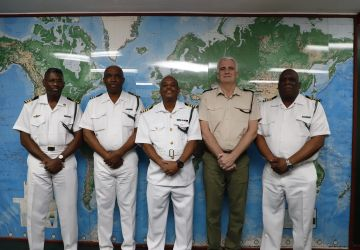 UK Attaché pays Courtesy Call on Acting Commander Defence Force