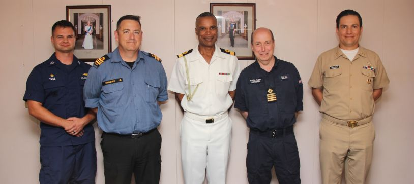 Commander Defence Force pays Courtesy Call on Visiting Tradewinds Ships