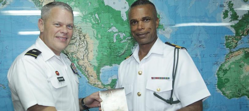 US Brigadier General pays Courtesy Call on Commander Defence Force