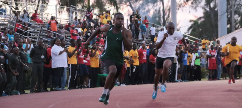 Athletes perform at Police Track Meet
