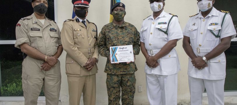 RBDF Personnel receive Certificates for Joint Curfew Operations