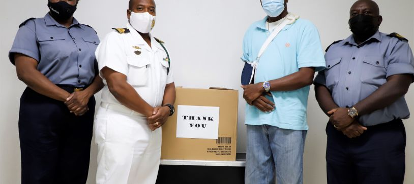 RBDF presents Injured Police Officer with Token of Appreciation
