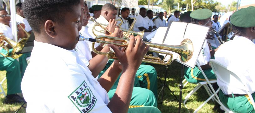 Defence Force Rangers Receive Musical Instruments