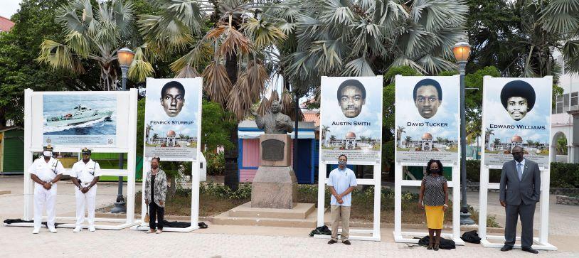 RBDF Unveils Portraits of Fallen Marines