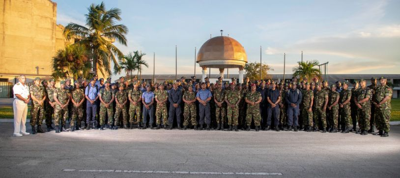 Trinidad and Tobago Troop arrives in Capital