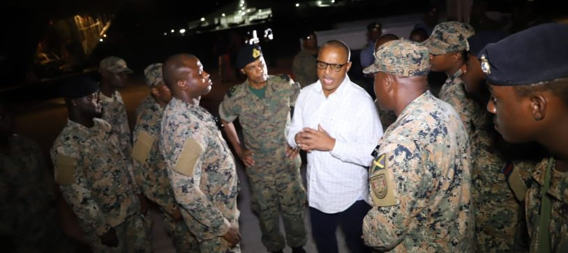 Jamaica Defence Force Contingent arrives in Capital