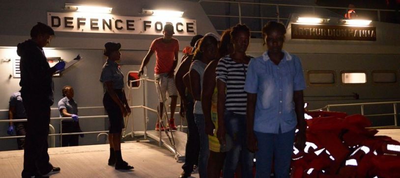 Defence Force Apprehends Haitian Migrants
