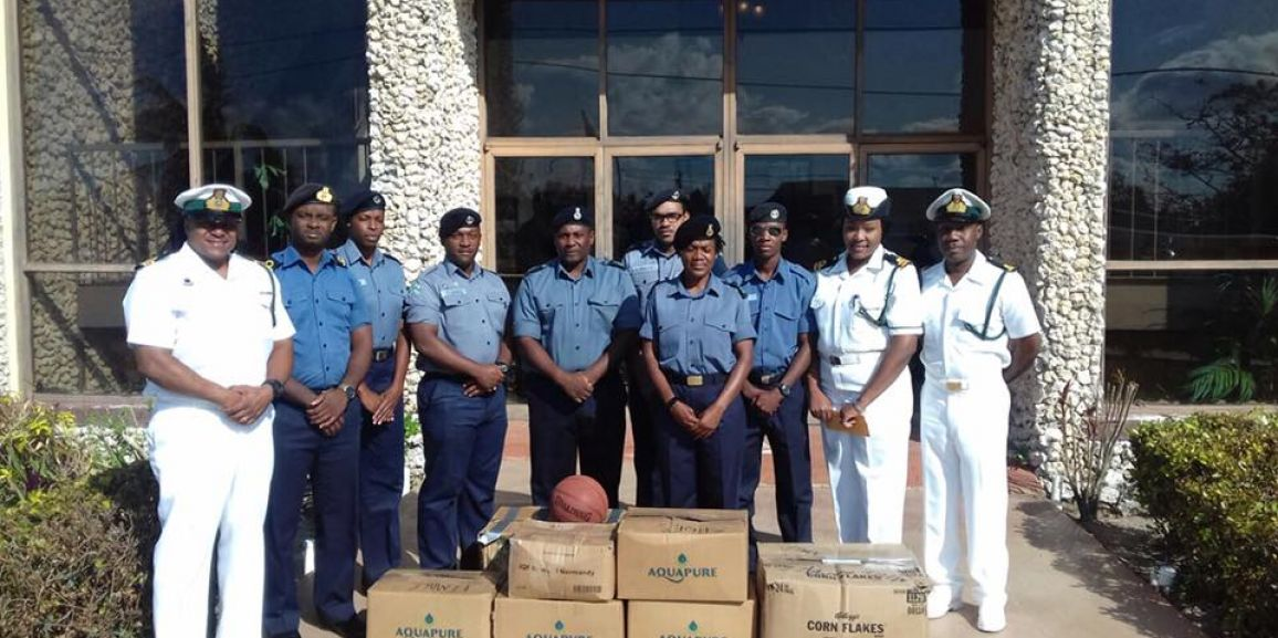 Defence Force Officers and Marines assist with Post Hurricane Matthew Donations