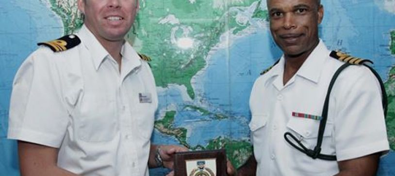 British Royal Navy Officer Pays a Visit to Commander Defence Force (Acting)