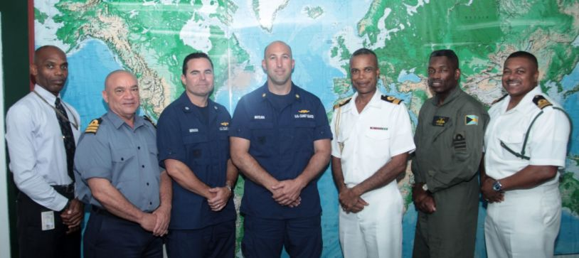US Coast Guard Officials pay Courtesy Call on Commander Defence Force