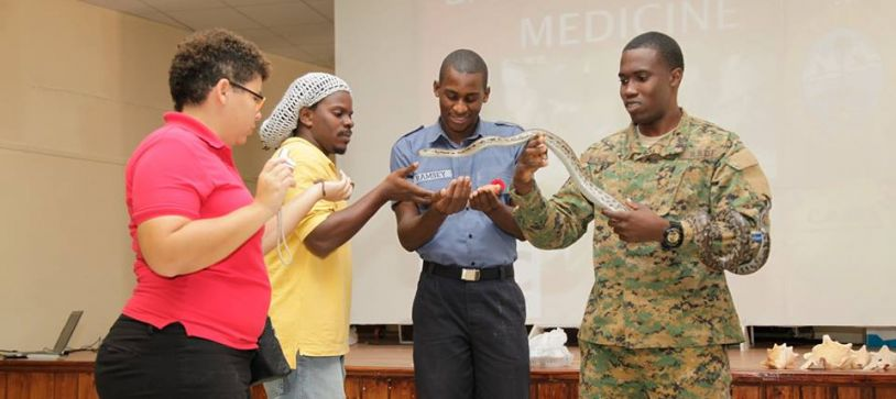Bahamas National Trust conduct Workshop for Defense Force Marines